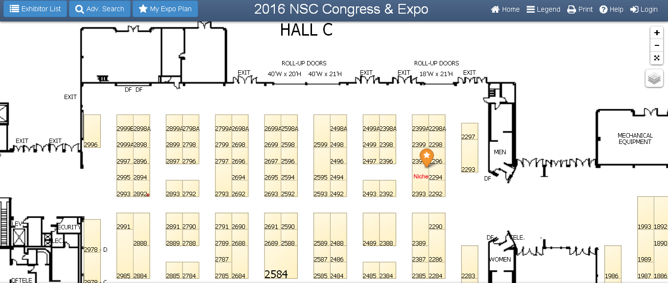 Site Map at 2016 NSC Congress & Expo